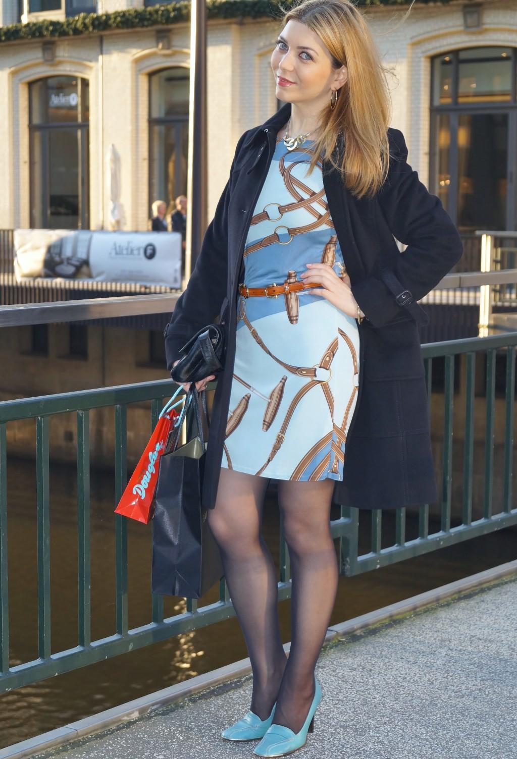 Ralph Lauren Kleid - Bally Schuhe