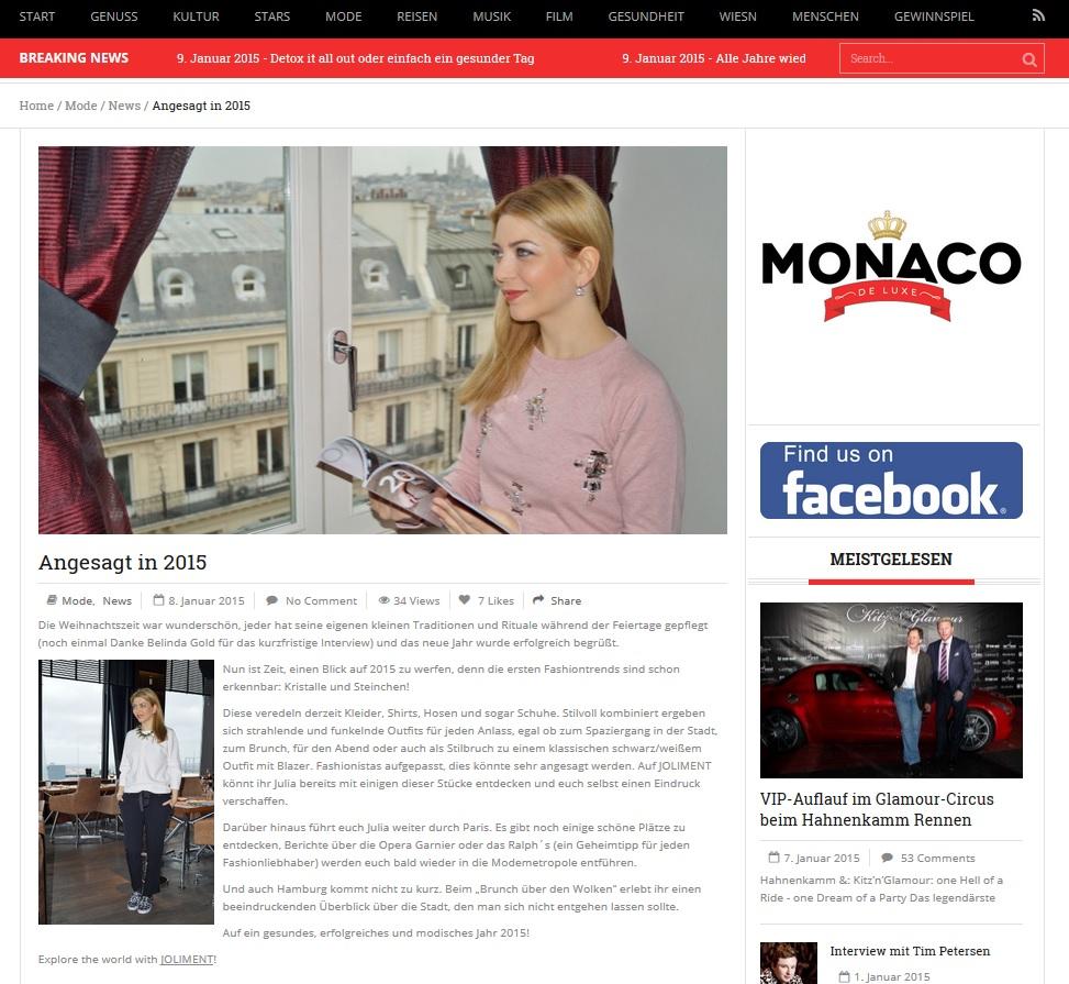 Monaco de Luxe - 08.01.2015
