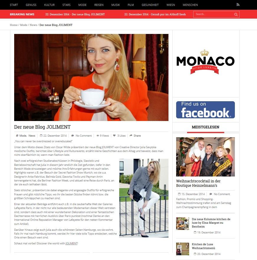 Monaco de Luxe - 22.12.2014