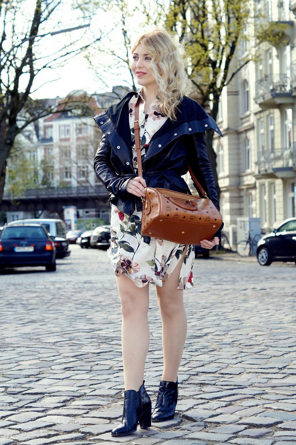 Blusenkleid mit Blumenprint