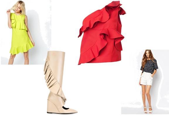 Kleidungsstücke mit Rüschen