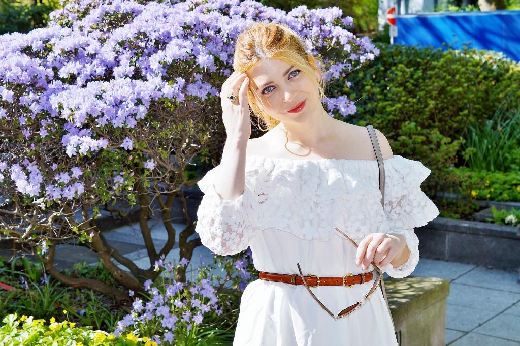 Schulterfreies Bardot Kleid