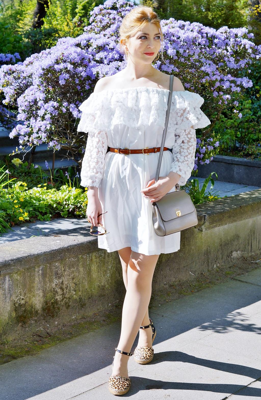 Schulterfreies Bardot Kleid (4)