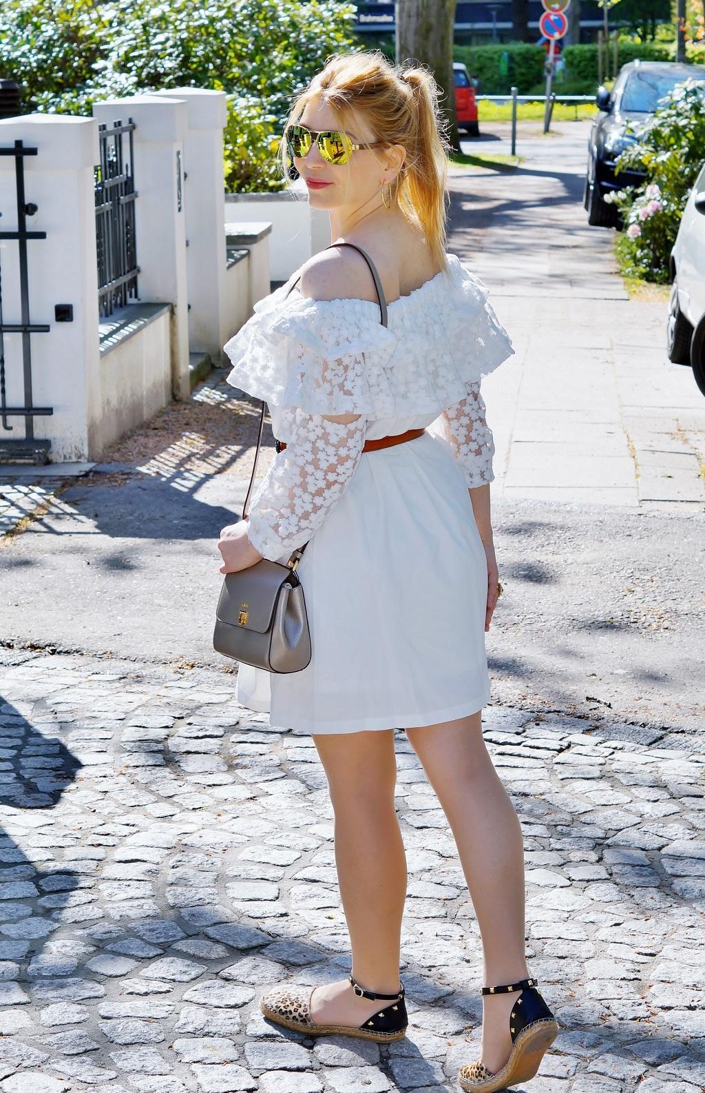 Schulterfreies Bardot Kleid (5)