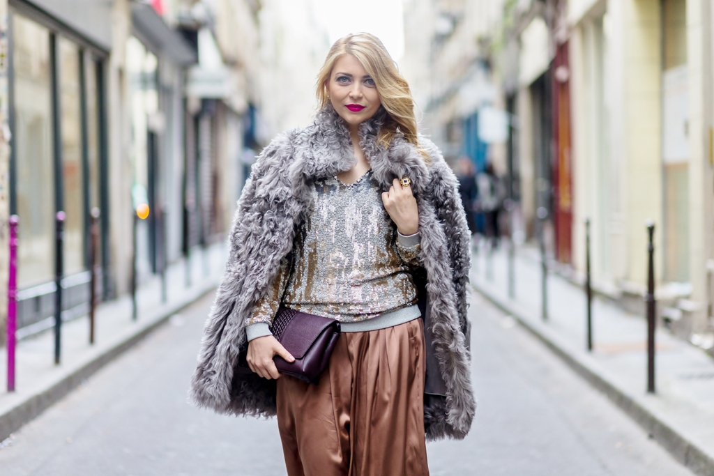 Yuliya Savytska - Paris Fashion Week Street Style