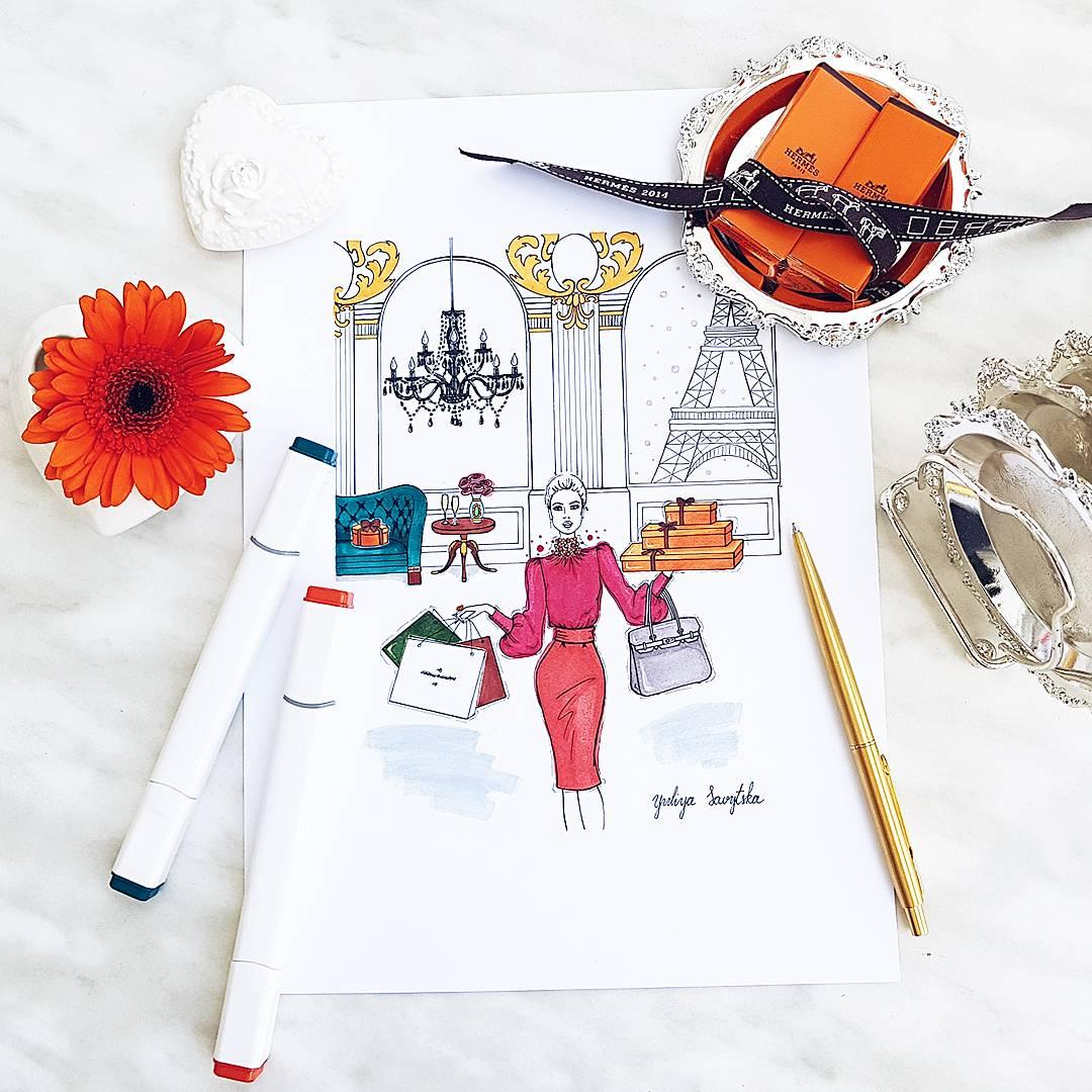 Fashion Illustrator - Yuliya Savytska