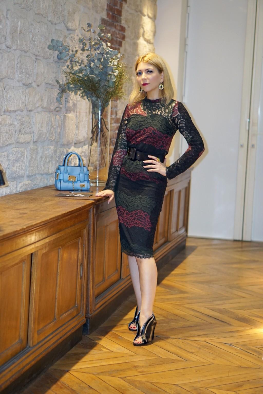Yuliya Savytska at Fashion Farm Foundation in Paris