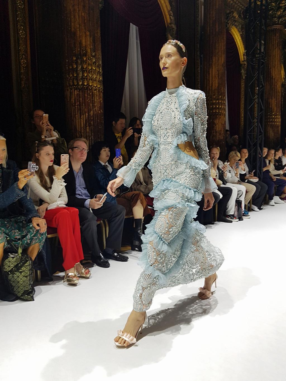 Yuliya Savytska at Marie Elie SS18 Fashion Show, Marie Elie SS18 - #jolimentblogxpfw