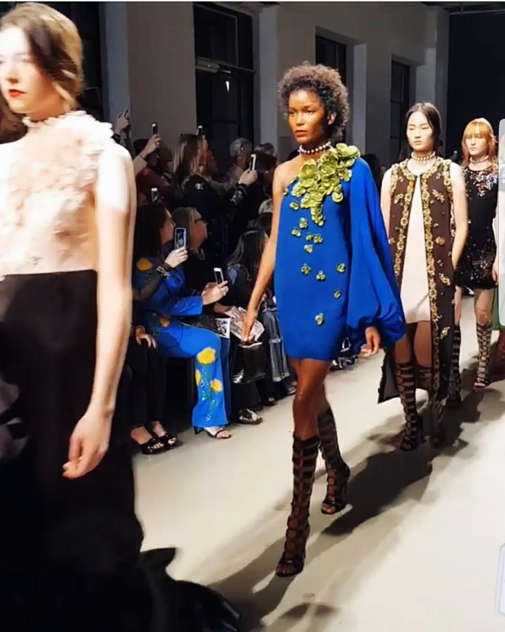 Yuliya Savytska at Andrew GN SS18 Fashion Show - #jolimentblogxpfw